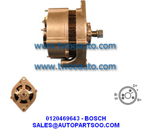 Normal Size Electric Car Generator For HINO J05E - TP Type Diesel 4-095000-6353