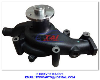 China K13ctv Hydraulic Power Steering Pump , K13c Engine Water Pump For Hino Oem 16100-3670 supplier
